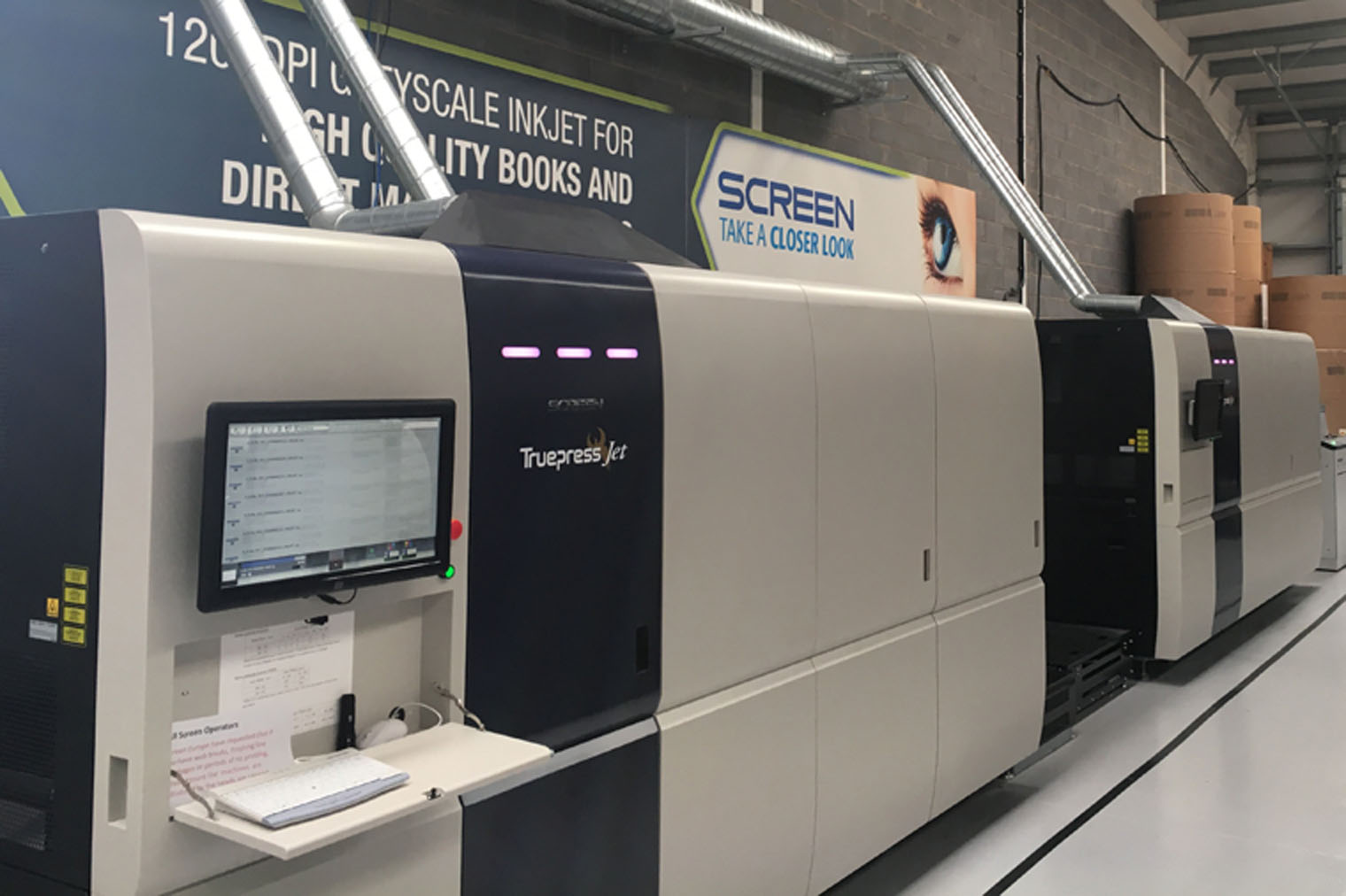 Image from SEAMLESS 'BOOK OF ONE' PRODUCTION AS SCREEN TRUEPRESS JET520HD GOES LIVE AT PRINTONDEMAND-WORLDWIDE