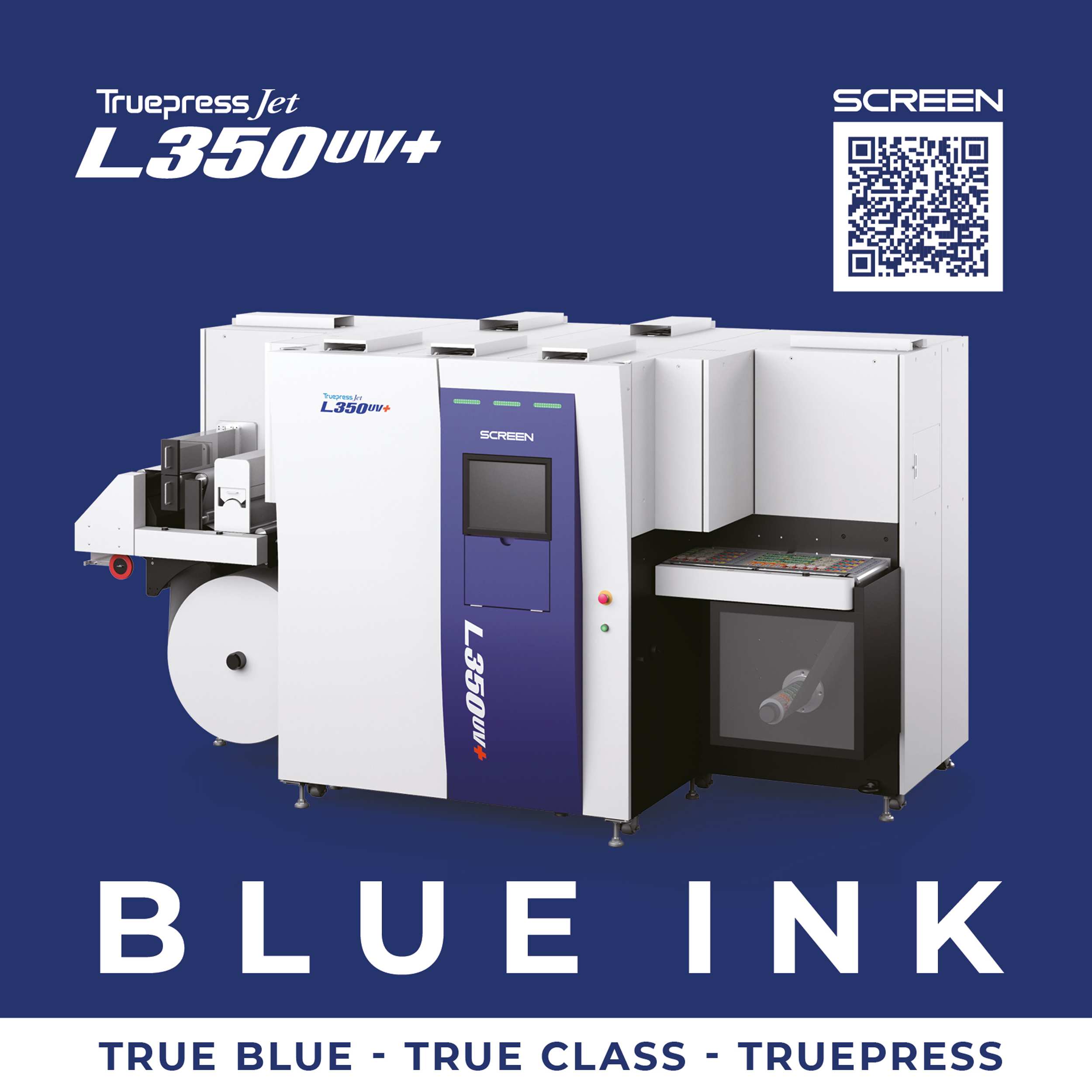 Image from SCREEN DEVELOPS BLUE INK FOR TRUEPRESS JET L350UV+